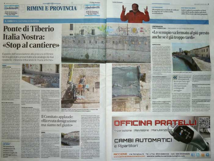 "Corriere Romagna: ""Esposto sul Tiberio, fermate lo scempio"" interviene Italia Nostra (2)"